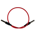 Bittree VPC1202-75 Standard WECO Patch Cable - 12 Inch Red
