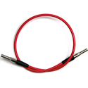 Bittree VPCMV2402-75 Micro Video Patchcord - Red - 24-Inch