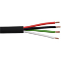 4 Conductor Direct Burial Audio Cable-Black 500ft