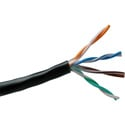 Belden 1583A 24 AWG CAT5e Non-Bonded Twisted Pair Cable - Black - 1000 Foot