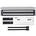 Belden AX103115 KeyConnect Modular Blank Keystone Patch Panel - 48-Port x 2RU - Black (Empty)