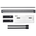 Belden AX103121 KeyConnect Modular Blank Keystone Patch Panel - 48-Port x 1RU - Black (Empty)