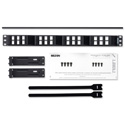 Belden AX103248 KeyConnect AngleFlex Modular Blank Keystone Patch Panel - 24-Port x 1RU - Black (Empty)