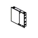 Belden AX103928 FiberExpress Ultra Wall mount Patch Panel - Black (Empty)