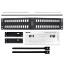 Belden AX104601 KeyConnect Angled Modular Keystone Patch Panel - 48 Port x 2RU - Black (Empty)