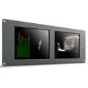 Blackmagic SmartScope Duo 4K Dual 8-Inch 6G-SDI Rack Mounted Monitors with Built in Scopes