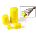 Connectronics 10pk of Yellow Plastic Caps for BNC Male Connectors