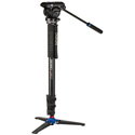 Benro A48FDS4PRO Classic Video Monopod with S4 PRO Flat Base Fluid Video Head