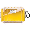 Pelican 1050 Micro Case - Clear Case/Yellow Liner