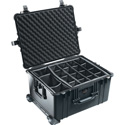Pelican 1620 Case with Padded Dividers- Black