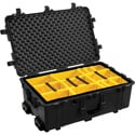 Pelican 1654 Protector Case with Padded Dividers - Black