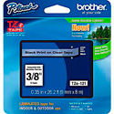 Brother TZe121 0.35 in x 26.2 ft (9mm x 8m) Black on Clear