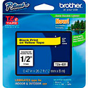 Brother TZe631 0.47in x 26.2 ft (12mm x 8m) Black on Yellow