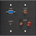 Board Room 2G Black Anodized w/1-HD15F/3-RCA Barrels and 1 -3.5 Stereo Mini Jack
