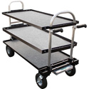Magliner Senior Cart Modified w/8 In. Wheels Top Middle & Bottom Shelf