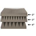 16x16 UL94 Blade Tile Sound Absorption Acoustic Panel - 2 Inch Thick Gray