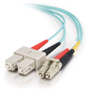 Cables To Go 33051 OM3 Duplex LC to SC Fiber Cable - 1 Meter