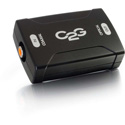 C2G 40018 Coaxial to TOSLINK Optical Digital Audio Converter (TAA Compliant)