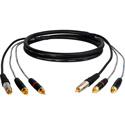 Sescom C3P-C3P-15 Dubbing Cable Canare A2V1 3 RCA Male to 3 RCA Male - 15 Foot