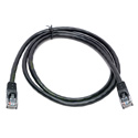 Connectronics 350MHz UTP CAT5e Patch Cable 100 Foot Black