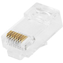 Connectronics Category 6 Modular Plug for Stranded Wire with Insert 50u - 100pcs/bag