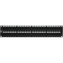 24-Port Category 6 Patch Panel with Rear 110 Termination 1RU