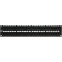 48-Port Category 6 Patch Panel with Rear 110 Termination 2RU