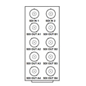 Cobalt RM20-9004-A 8321 Frame Rear I/O Module