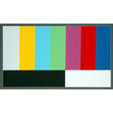 CBHD 16:9 HDTV Color Bar Chart - 12in x 19in