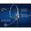 ClearCom CC-28-X4 Single Ear Lightweight Headset with XLR-4F Connector