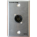 Clear-Com WP-6 2-Channel 6-Pin Male Intercom Outlet for RS beltpacks