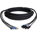 Laird CES-RJ45EC8-15 4-Channel CAT5e Tactical Ethernet Snake Cable RJ45 to Neutrik etherCON - 15 Foot