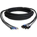 Four Channel CAT5e Tactical Ethernet Snake Cable RJ45-EC8 - 15 Foot Black