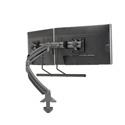 Chief K1D22HB Kontour K1D Dynamic Desk Clamp Mount Dual Monitor Array - Black