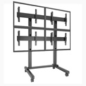 Chief LVM2X2U Fusion 2 x 2 Micro-Adjustable Large Freestanding Video Wall Cart/Stand