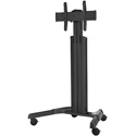 Chief MPAUB Medium Fusion Manual Height Adjustable Mobile TV Cart - Black