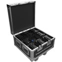 Chauvet Freedom Charge 8 Compact Road Case with Built-in Cable Whips for Charging - Black