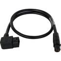 Laird Viewfinder Power Cable w/Right Angle D-Tap for AJA CION Camera & Cineroid EVF4RVW - 18 Inch