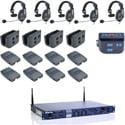 Clear-Com CZ11513 4UP 4 User DX210 2.4 GHz Wireless Intercom System with CC-15-MD4 Headsets