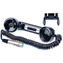 Clear-Com HS-6 Telephone-Style Handset XLR-4F with Coiled Cord & Push to Talk Button