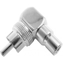 Calrad 35-480-NK Right Angle RCA Plug to RCA Jack Adapter Nickel Plated with Teflon Insulator