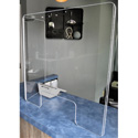 ClearSonic GS2424Cx1 Germ Shield 23.5 x 23.5 x 0.22 Inch Thick Acrylic Shield with 11.5 x 23.5in Side Panel and Cutout