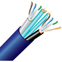 Cleerline 2C6250125OM3R 2 Strand 50/125 SSF & 2 CAT6 Indoor Fiber Cable 500 foot roll