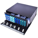 Cleerline SSF-4RU-E12 4 RU 12 Termination Panel Rack Mount Fiber Distribution Unit