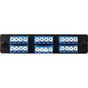 Cleerline SSF-LC24-SM-OS2 Plate (Blue) SM (OS1 & OS2) Quad LC 24-Fiber Zirconia Ceramic Sleeve