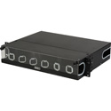 Camplex CMX-MPR-2RU Adjustable Fiber Enclosure for 19 or 23-Inch Racks - Holds 6 Modules for up to 144 Fibers