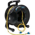 Camplex 4-Channel LC Singlemode Fiber Optic Tactical Snake on Reel 500 Ft