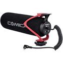 Comica CVM-V30-LITE-R Directional On-Camera Shotgun Microphone for DSLRs and Smartphones - Red