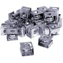 Connectronics Clip-On Rack Rail Nuts / Cage Nuts 25 Pack