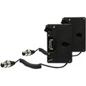 Core-SumoAG Double Gold Mount Kit with Coiled Powertap to XLR 4-Pin for Atomos Sumo